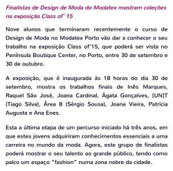 Exposição Class of`15 Modatex Porto